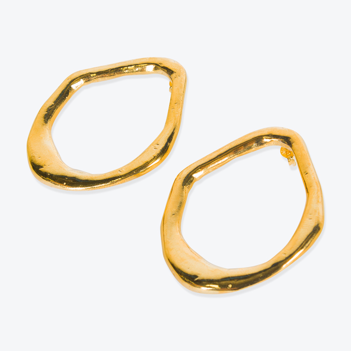 Aphrodite Earrings, Gold Plated Earring by By Nye - Modern Times