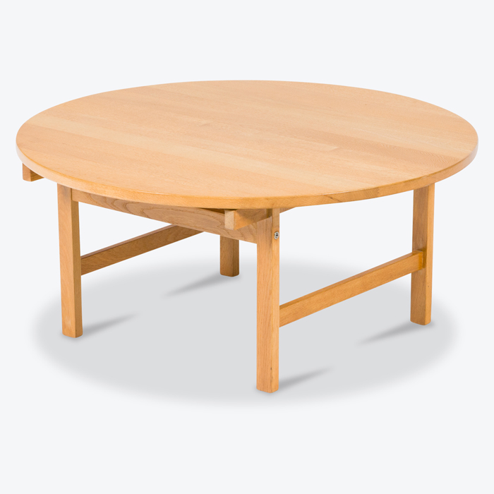 Circular Coffee Table By Hans Wegner In Oak 1960s Denmark Thumb