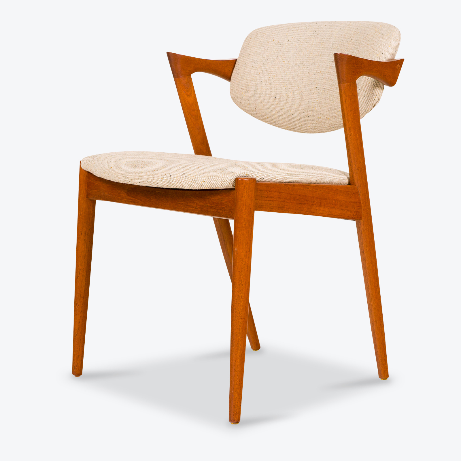 set of 4 dining chairs. Dining-Chair-by-Kai-Kristiansen-in-Teak-with- Set Of 4 Dining Chairs U