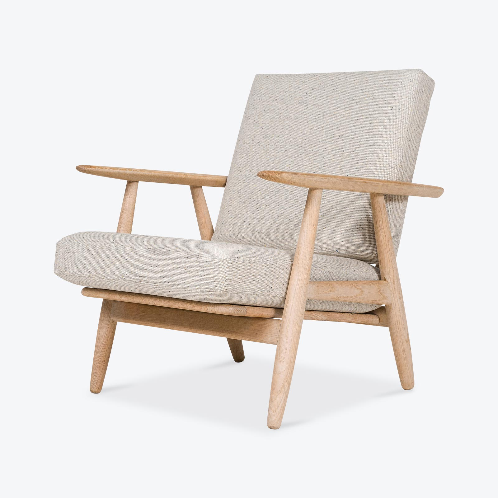 ge 240 lounge chair by hans wegner for getama in oak 1955 denmark