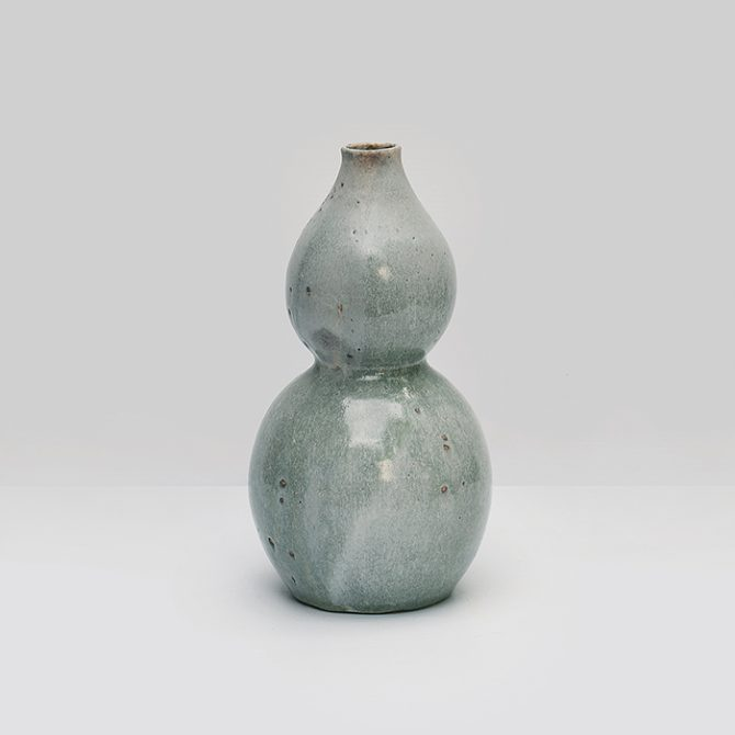 Gourd Vase, in Glazed Ceramic by Nicolette Johnson