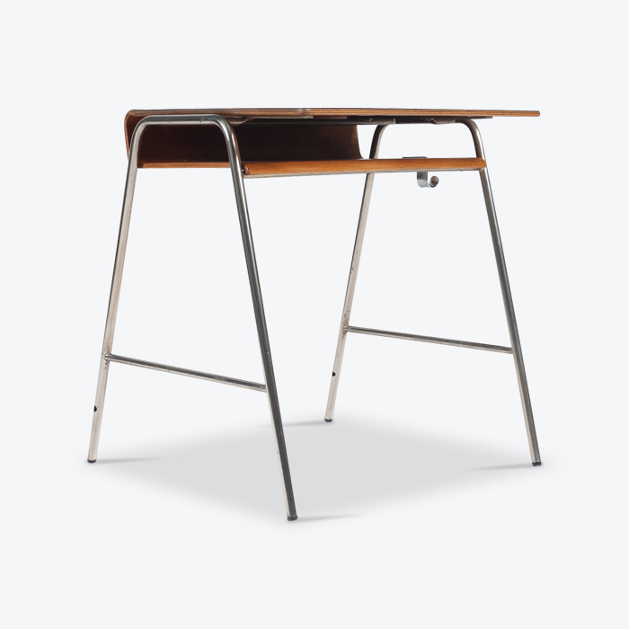 Desk by Arne Jacobsen in Moulded Teak and Laminate for Fritz Hansen, 1955, Denmark