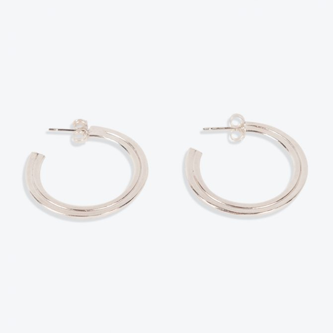 Large Julia Hoops in Sterling Silver by MLD