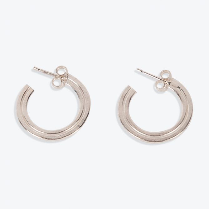 Small Julia Hoops in Sterling Silver by MLD
