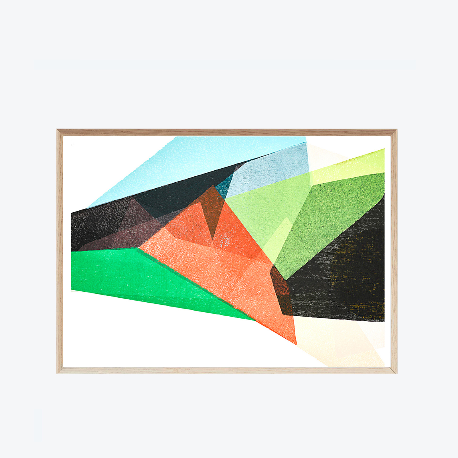 Unfolding Composition Ii Modern Times Edition Art Print By