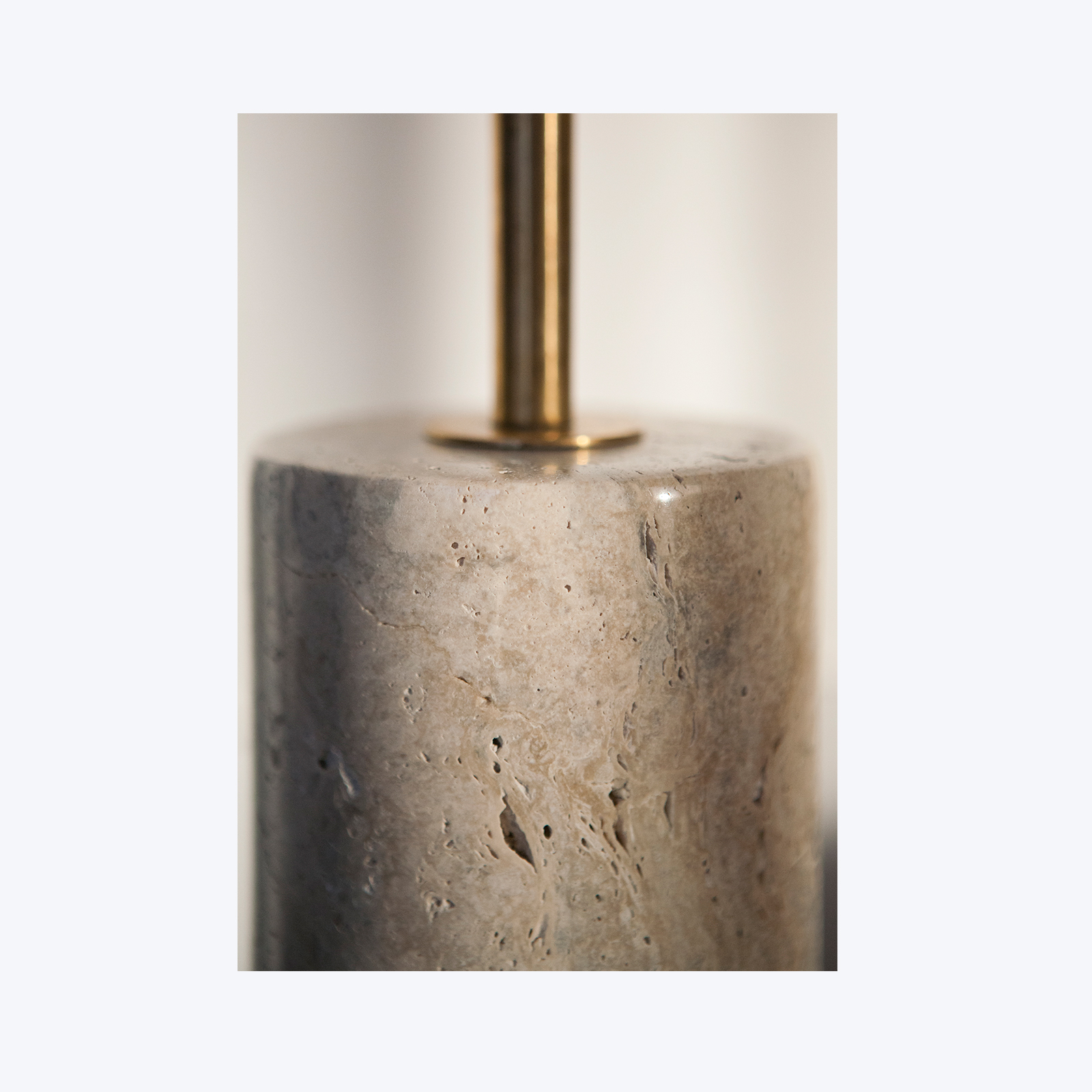 Arancini Lamp by Moda Piera in Brass and Italian Travertine, 2017, Australia