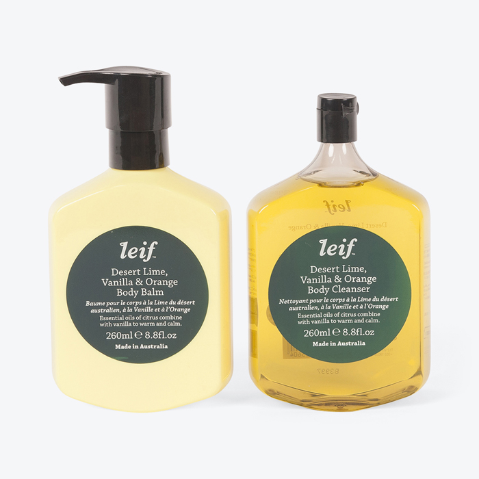 Deep Calm Body Double Gift Box in Desert Lime by Leif