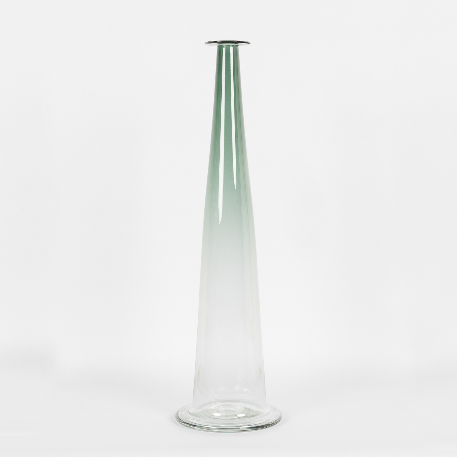 Bc1 Cone In Sage Hand Blown Glass By Liam Fleming
