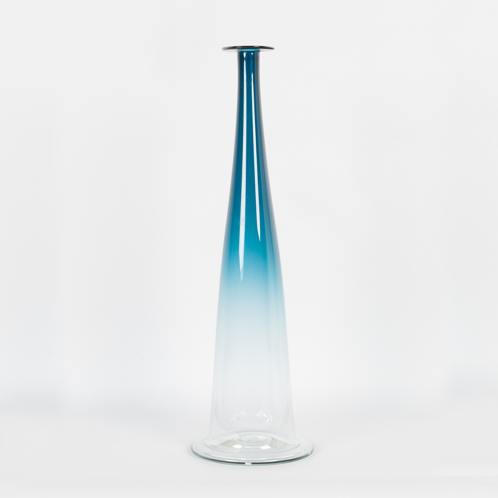 Bc6 Cone In Blue Hand Blown Glass By Liam Fleming