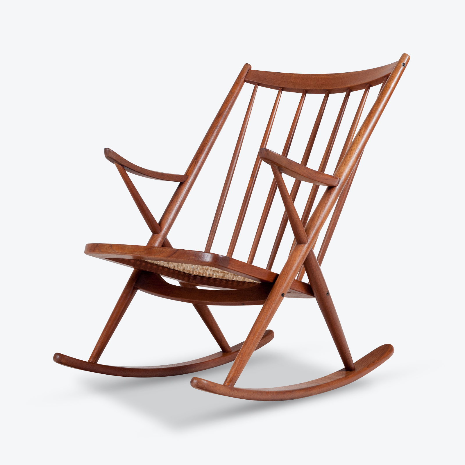 Rocking-Chair-by-Frank-Reenskaug-in-Teak-for-  sc 1 st  Modern Times : rocking folding chair - lorbestier.org