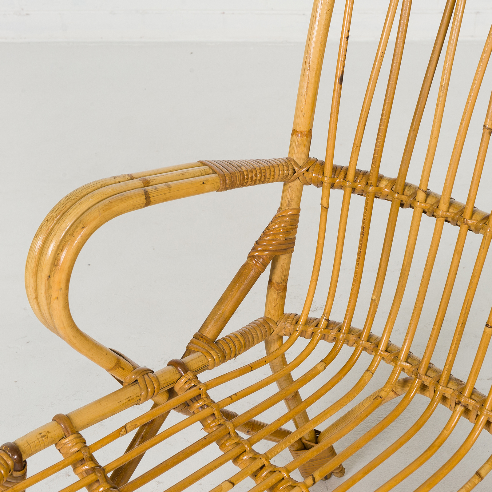 2 Seat Wicker Sofa In Bamboo With Coiled Socks 1960s Denmark 05