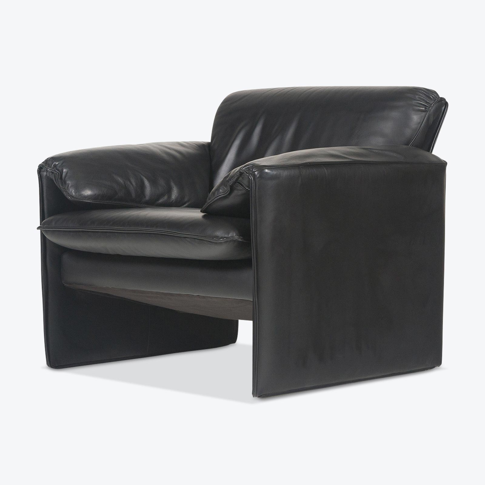Bora Armchair by Leolux in Black Leather, 1960s ...