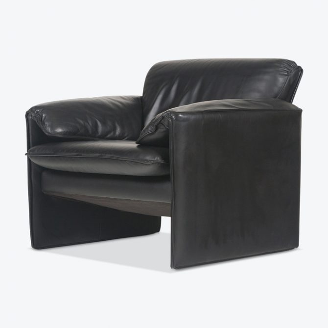 Armchair By Leolux In Black Leather 1960s Germany Thumb.jpg