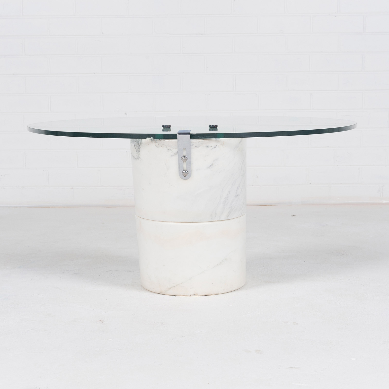 Coffee Table In The Style Of K1000 By Roland Schmitt With Split Marble Base 1974 Switzerland 02