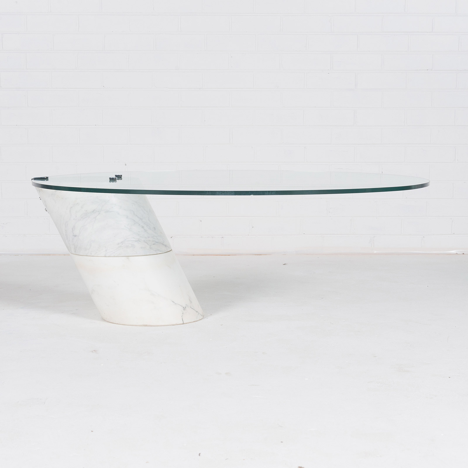Coffee Table In The Style Of K1000 By Roland Schmitt With Split Marble Base 1974 Switzerland 03