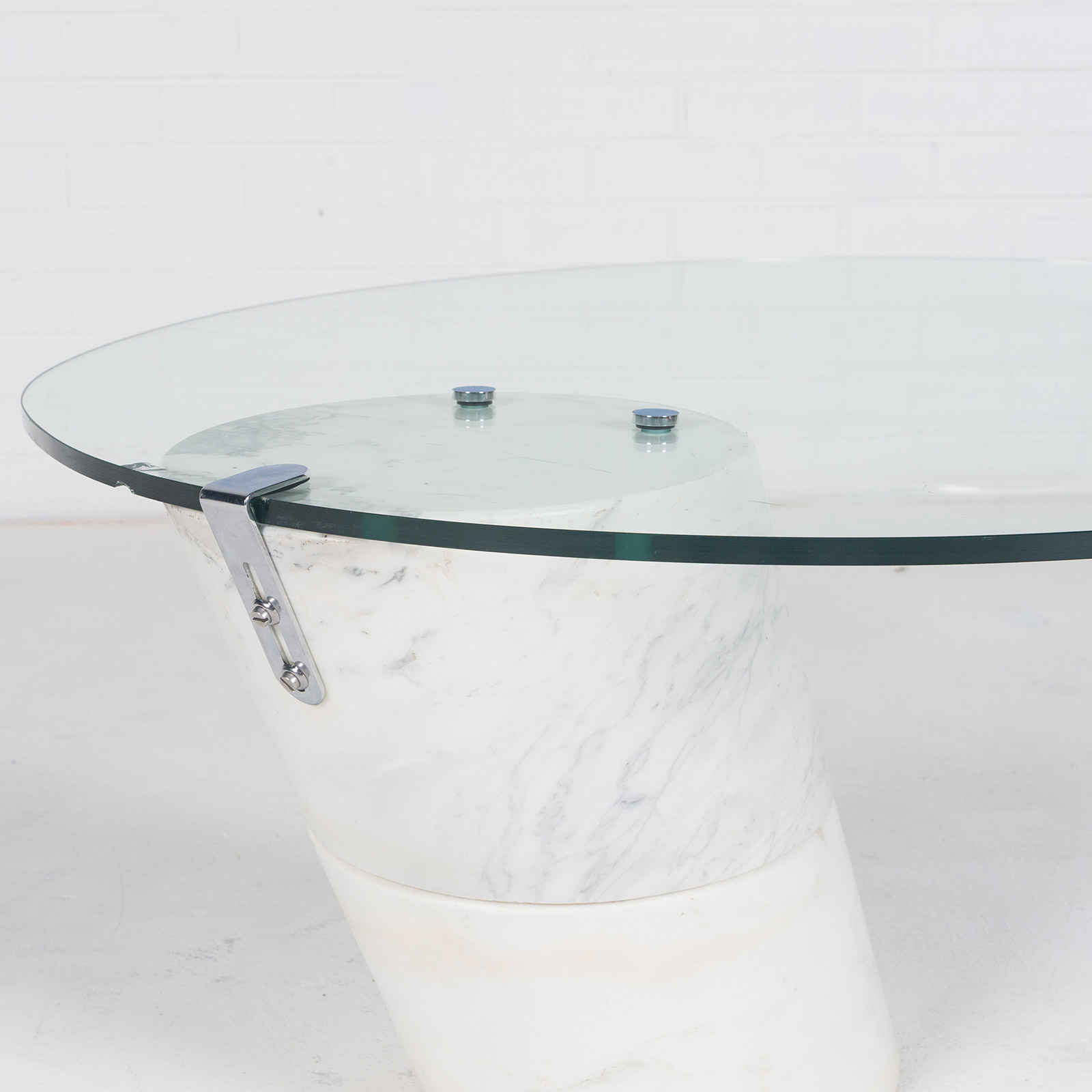 Coffee Table In The Style Of K1000 By Roland Schmitt With Split Marble Base 1974 Switzerland 04