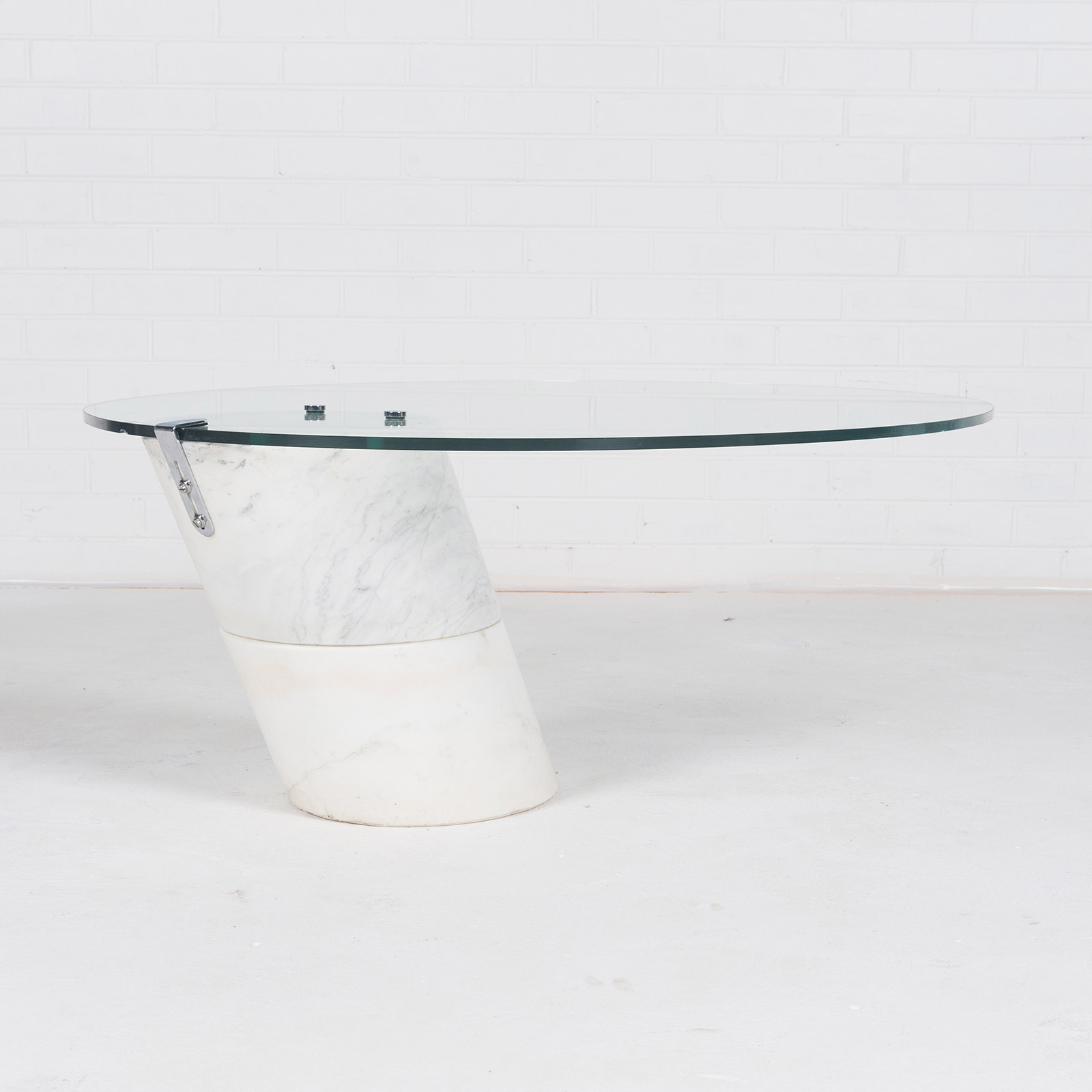 Coffee Table In The Style Of K1000 By Roland Schmitt With Split Marble Base 1974 Switzerland 05