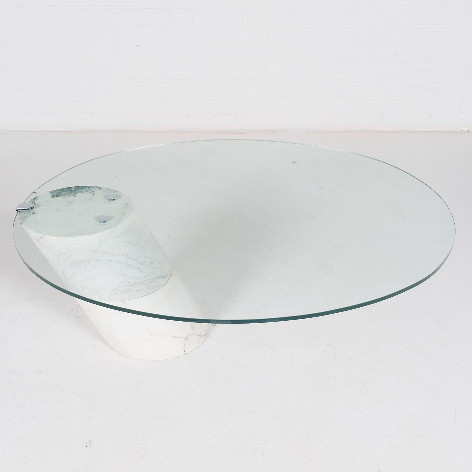 Coffee Table In The Style Of K1000 By Roland Schmitt With Split Marble Base 1974 Switzerland 06
