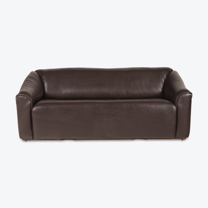 Ds47 3 Seat Sofa By De Sede In Thick Dark Brown Leather 1970s Switzerland Thumb.jpg