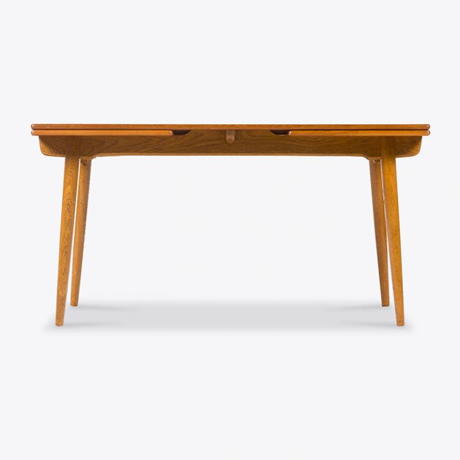 Extendable Dining Table By Hans Wegner For Andreas Tuck In Oak And Teak 1960s Denmark Thumb.jpg