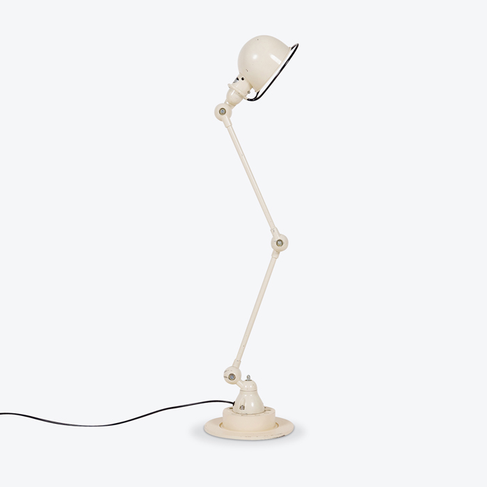 Extendendable Table Lamp By Jielde In Painted Cream Steel 1950s France Thumb.jpg