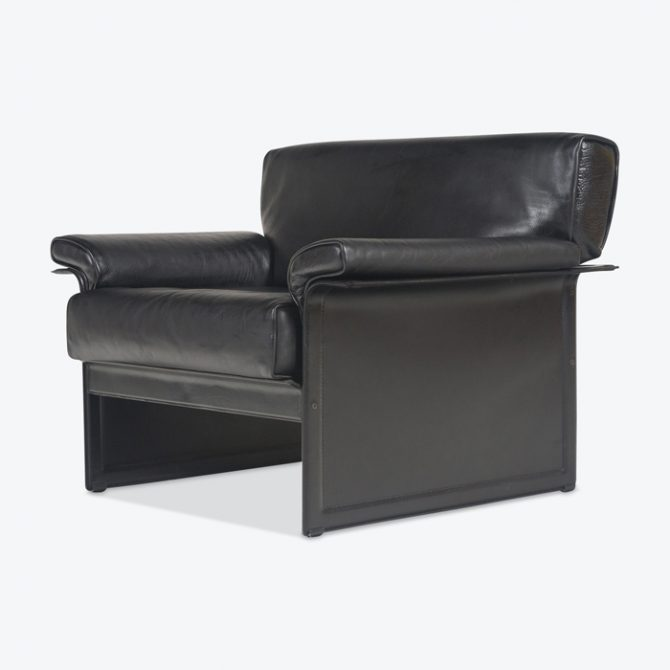 Korium Series Armchair By Tito Agnoli For Matteo Grassi In Black Leather 1960s Italy Thumb.jpg