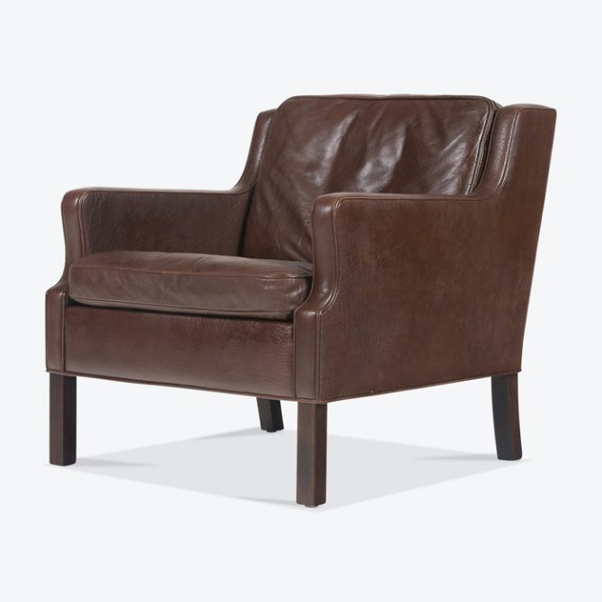 Armchair In Dark Chocolate Leather 1960s Denmark Thumb.jpg