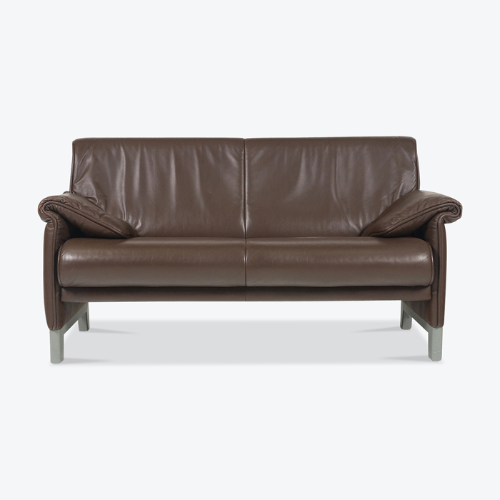 2 Seat Sofa By De Sede In Brown Leather With A Grey Base 1970s Switzerland Thumb.jpg