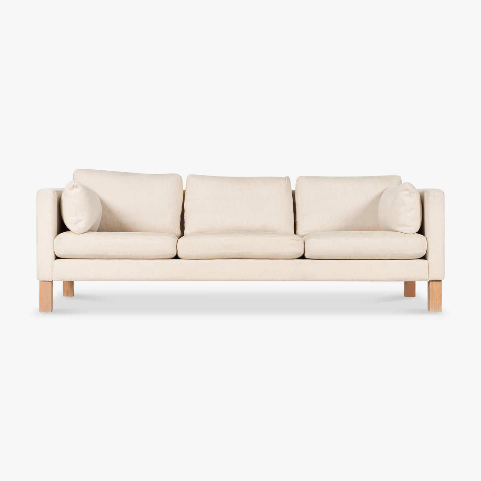 3 Seat Sofa By Soren Lund In Light Wool With Beech Legs