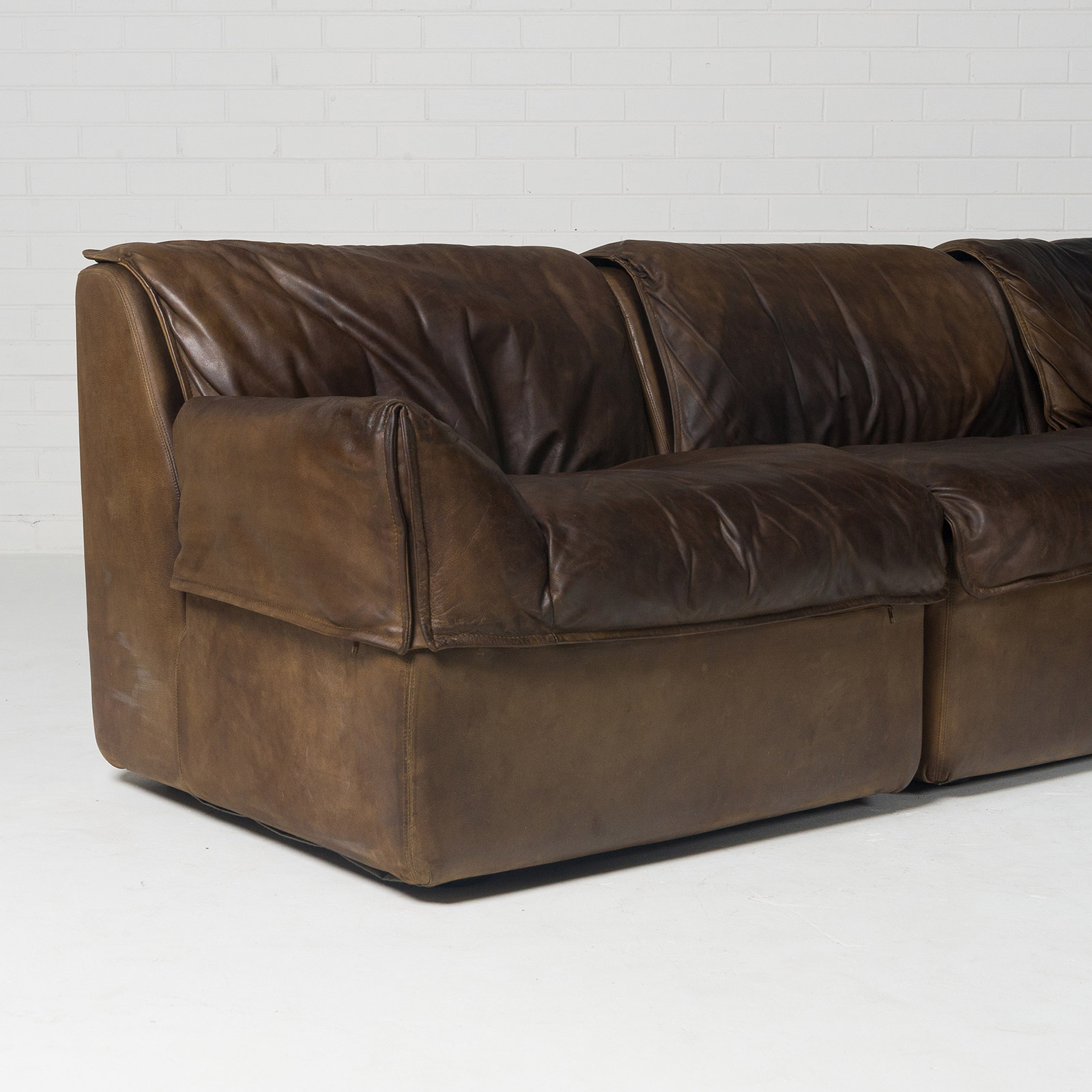 Modular Sofa By Cor With Five Modules In Tan Leather 1960s Germany 04
