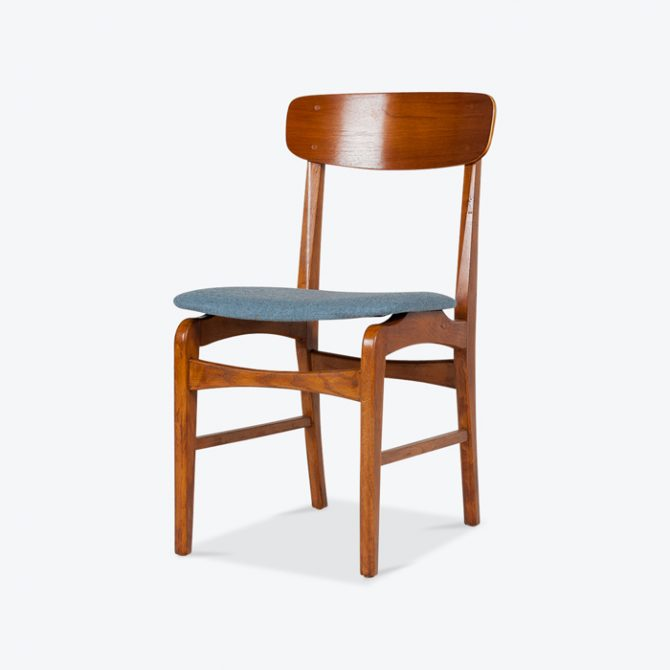 Set 6 Dining Chairs In Teak And Oak 1960s Denmark Thumb.jpg