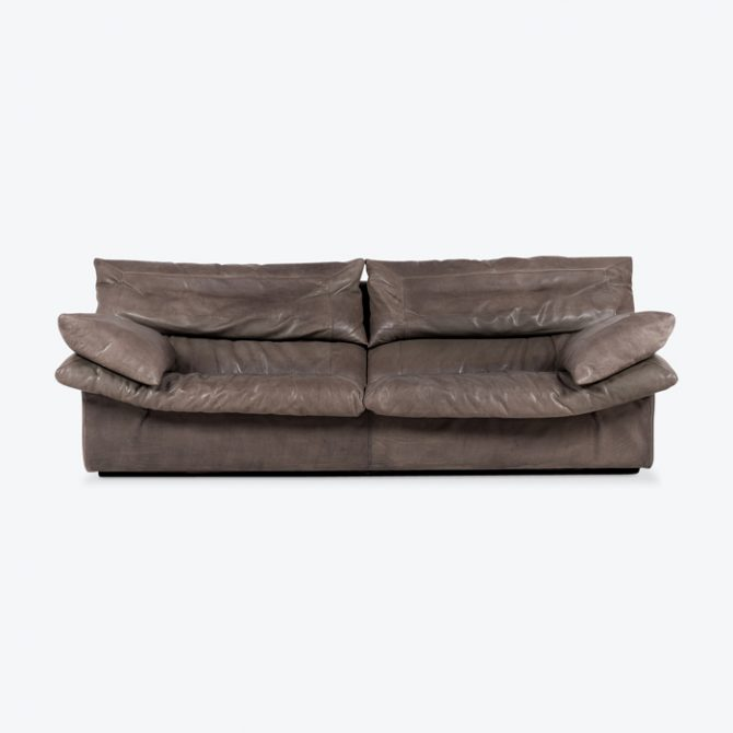 2 Seat Sofa By Eilerson In Grey Panelled Leather 1960s Denmark Thumb.jpg