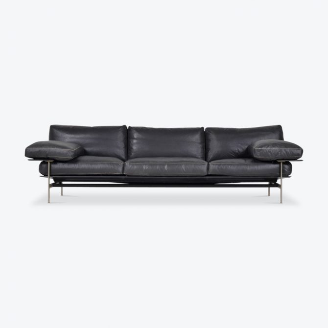Deisis Sofa By Antonio Citterio For Bb Italia In Charcoal Leather 1979 Italy Thumb.jpg