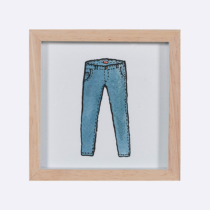 Blue Jeans Original Painting By Billie Justice Thomson Thumb.jpg