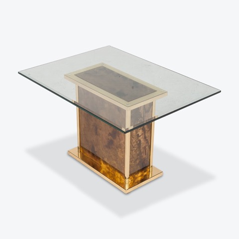 Coffee Table By Belgo Chrome With Brass Frame And Glass Top 1960s France Thumb.jpeg