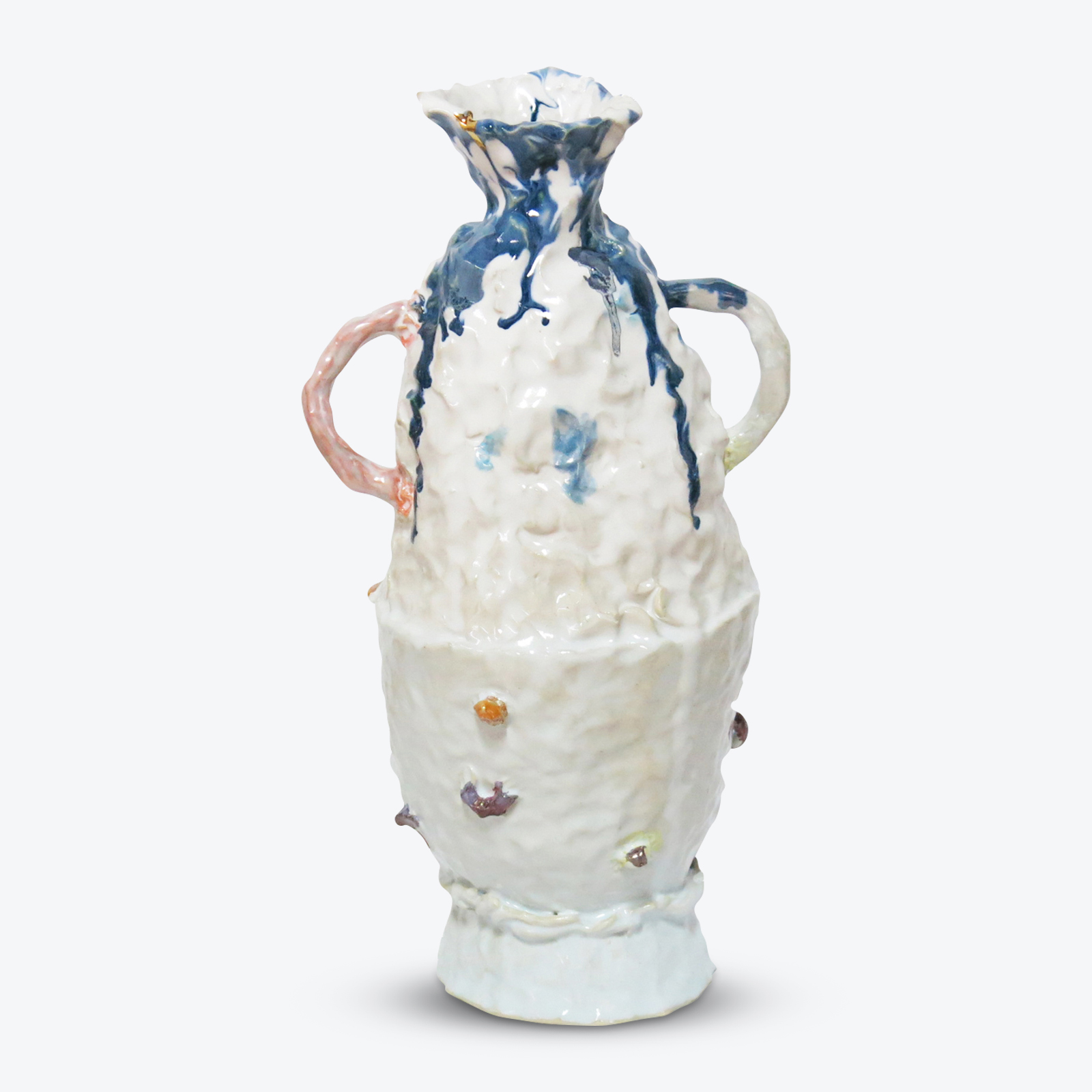 Double Up Pot In Glazed Stoneware With Lustre By Tessy King 01