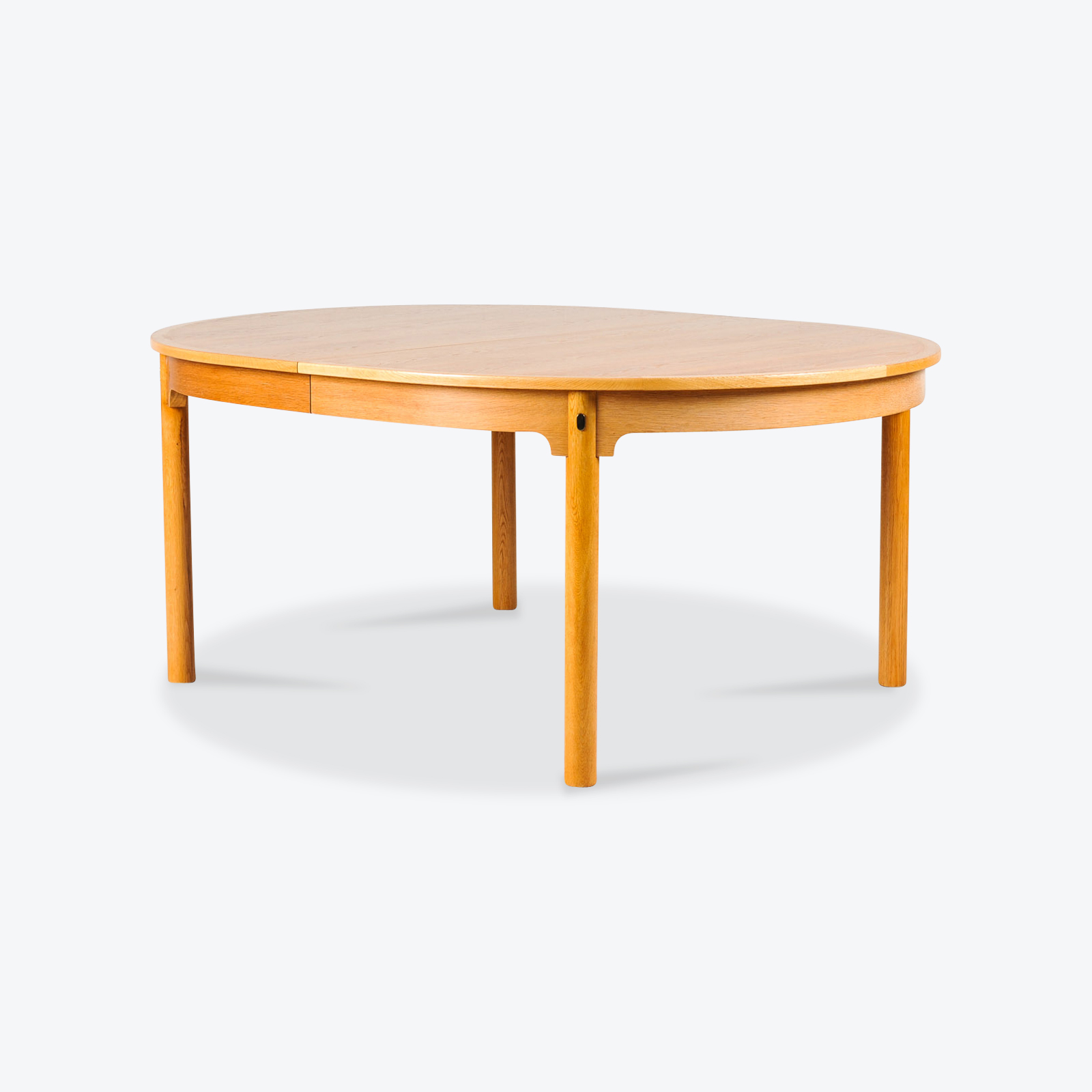 Extra Large Dining Table By Borge Mogensesn In Oak With Four Leaves 1960s Denmark 00
