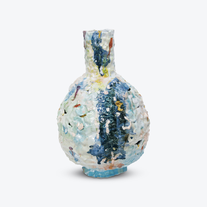 Globe Bottle In Glazed Stoneware With Lustre By Tessy King Thumb.jpg