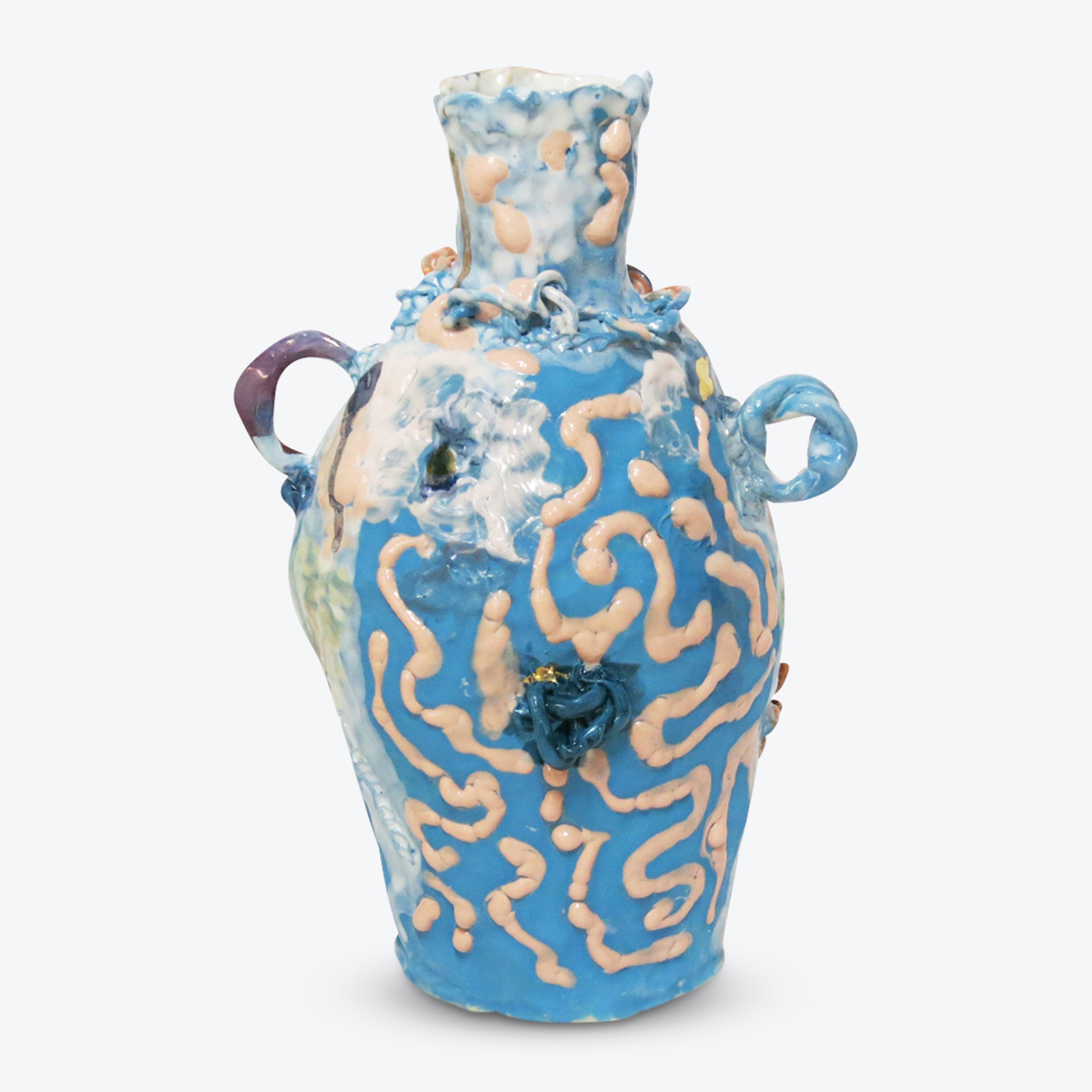 Harlequin Vessel In Glazed Stoneware With Lustre By Tessy King 01