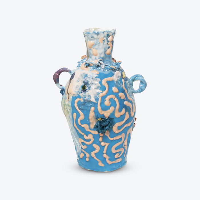 Harlequin Vessel In Glazed Stoneware With Lustre By Tessy King Thumb.jpg
