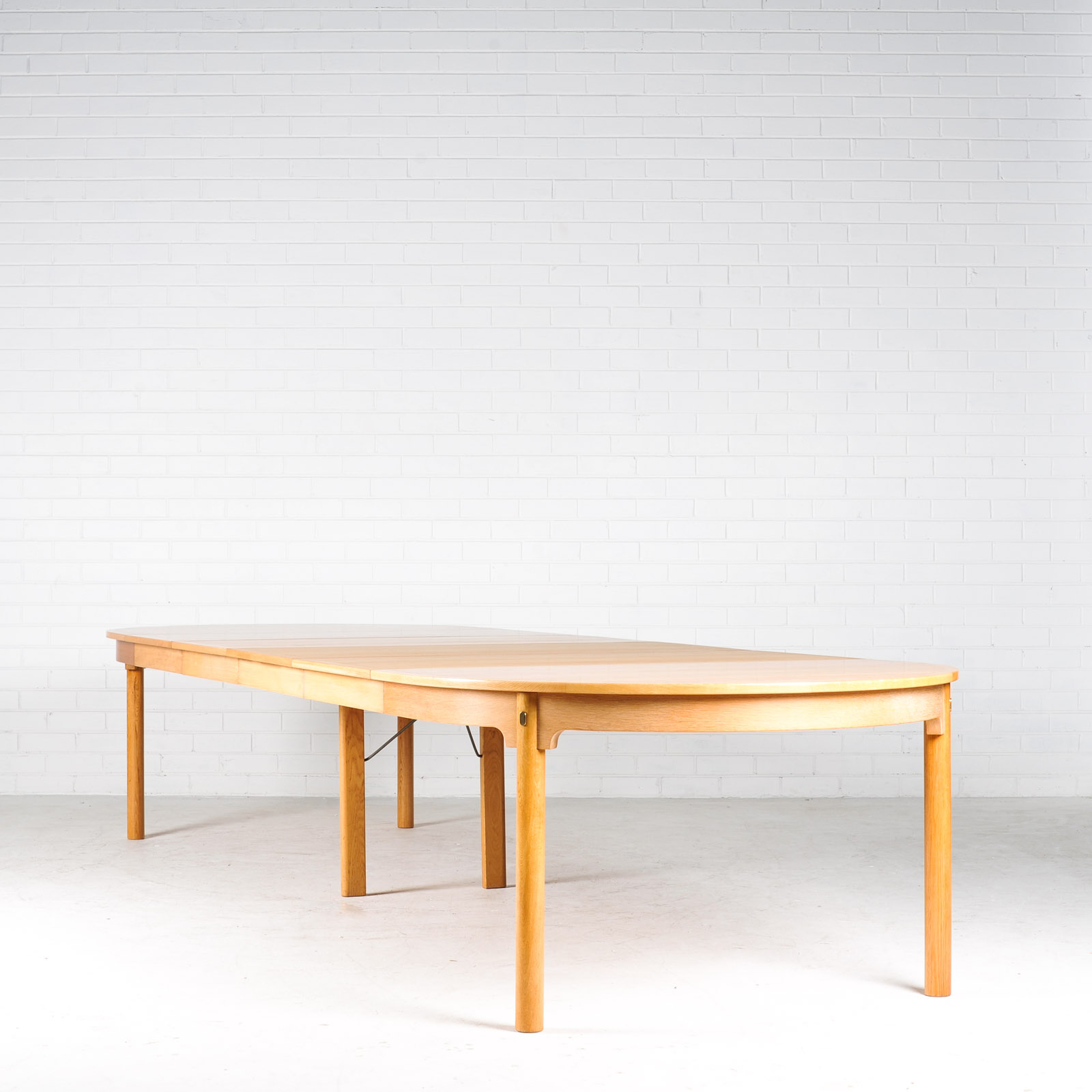 Extra Large Dining Table by Borge Mogensesn in Oak with Four Leaves, 1960s, Denmark 01