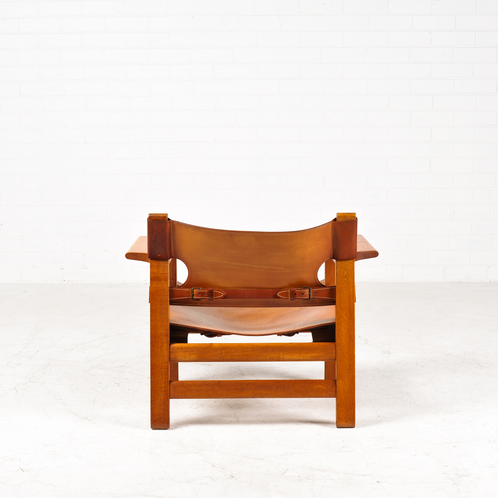 Spanish Chair by Borge Mogensen for Fredericia in Tan Leather, 1950s, Denmark 01