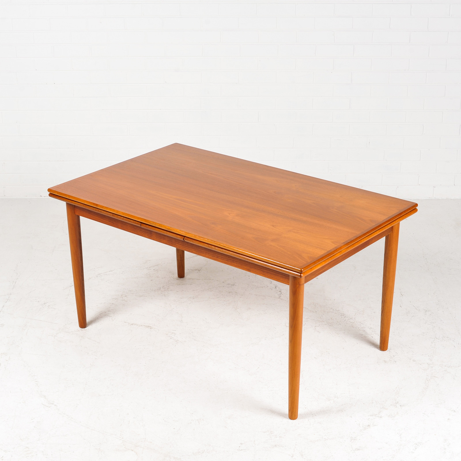 Rectangular Dining Table In Teak With Solid Edge 1960s