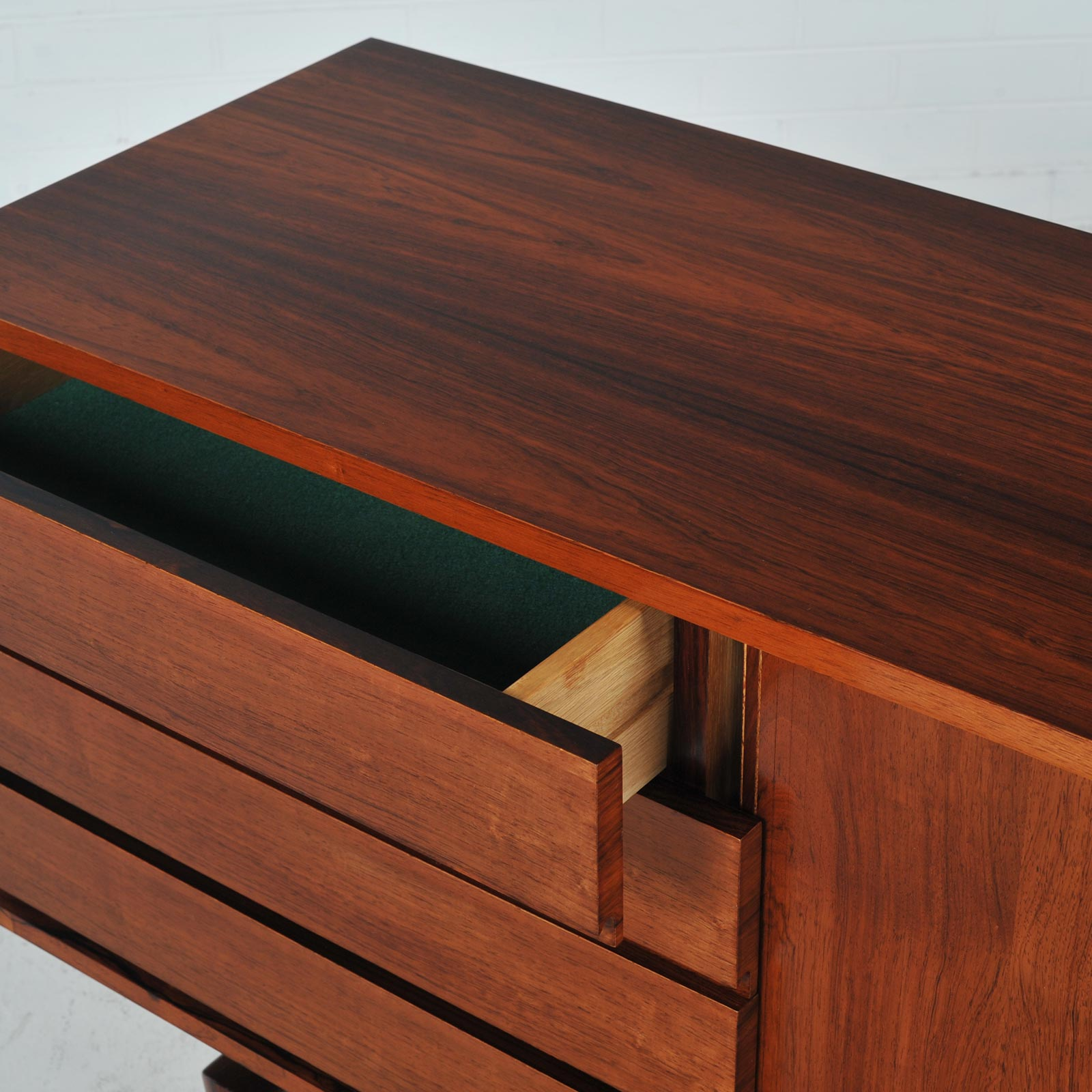 Sideboard By H W Klein In Rosewood With Tambour Doors 1960s Denmark 01
