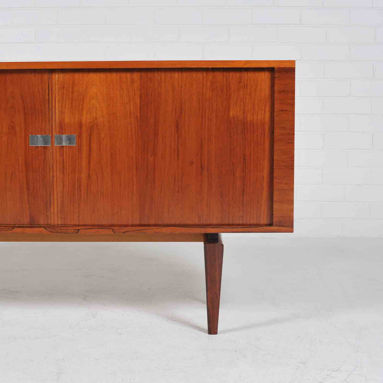 Sideboard By H W Klein In Rosewood With Tambour Doors 1960s Denmark 02