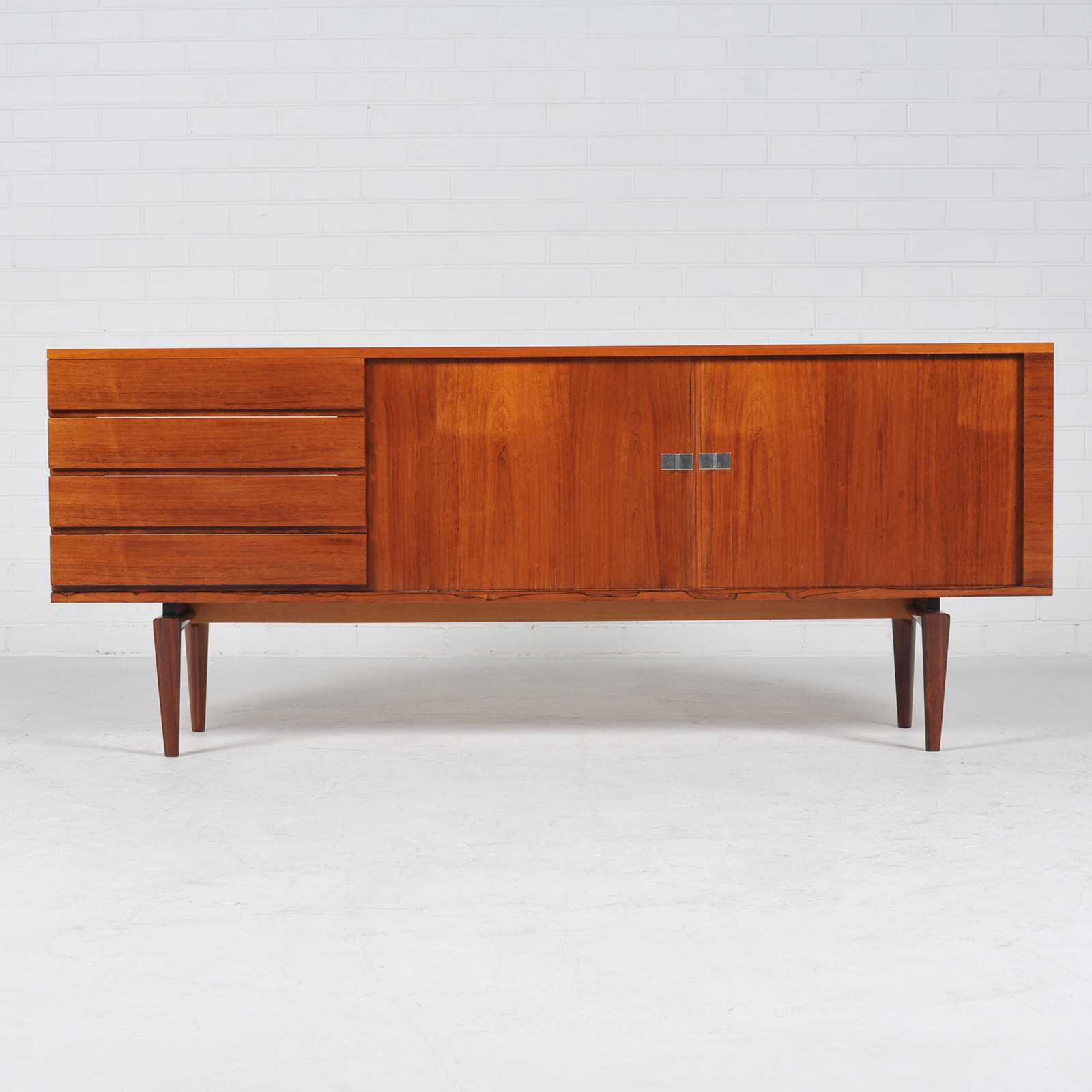 Sideboard By H W Klein In Rosewood With Tambour Doors 1960s Denmark 04