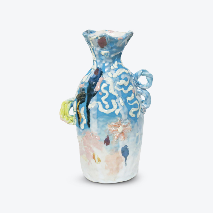 Surf Bottle In Glazed Stoneware With Lustre By Tessy King Thumb.jpg