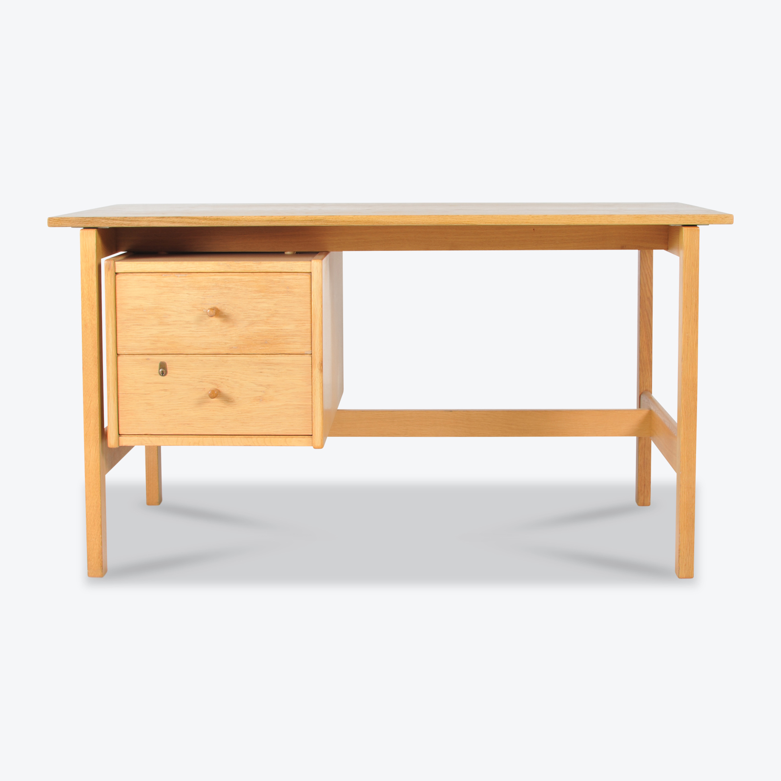 Desk By Hans Wegner In Oak Manufactured By Getama 1960s Denmark 00