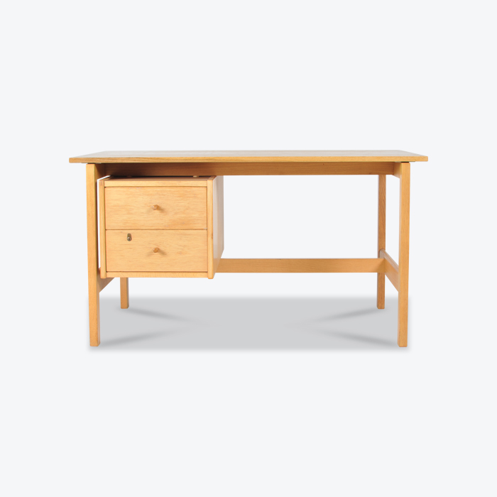Desk By Hans Wegner In Oak Manufactured By Getama Thumb.jpg
