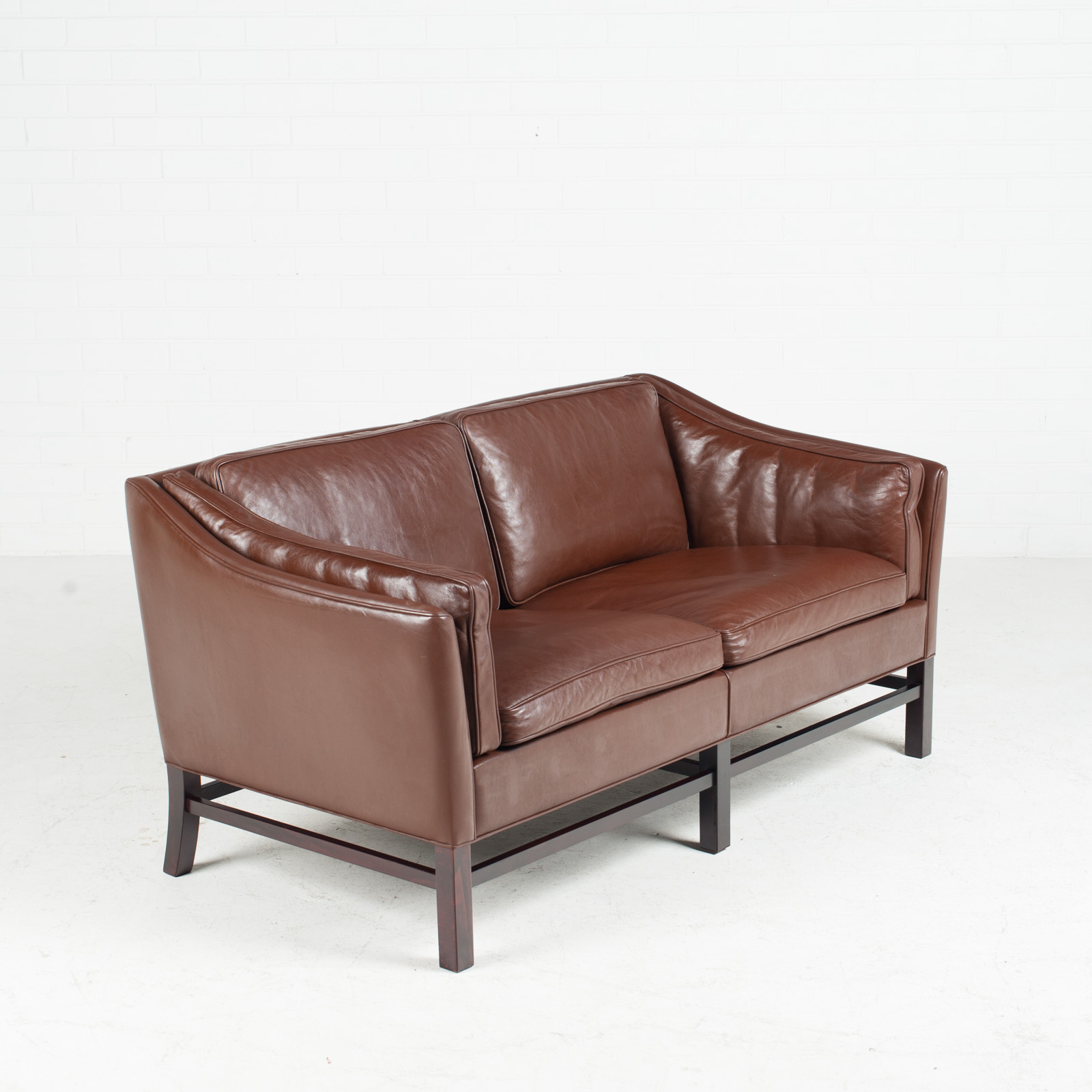 2 Seater Leather Sofa Brown: 2 Seat Sofa By Grant Mobelfabrik In Chocolate Brown
